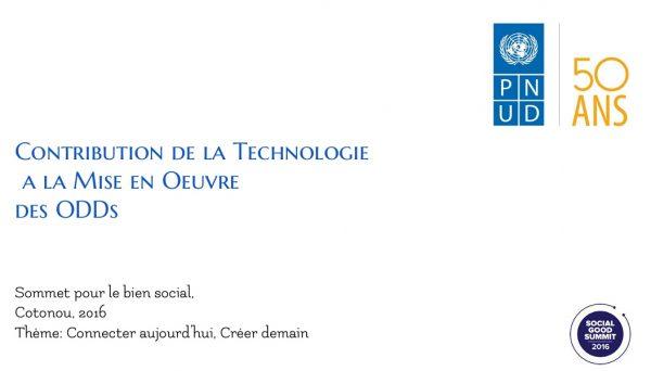 Contribution de la technologie à la mise en oeuvre des ODD
